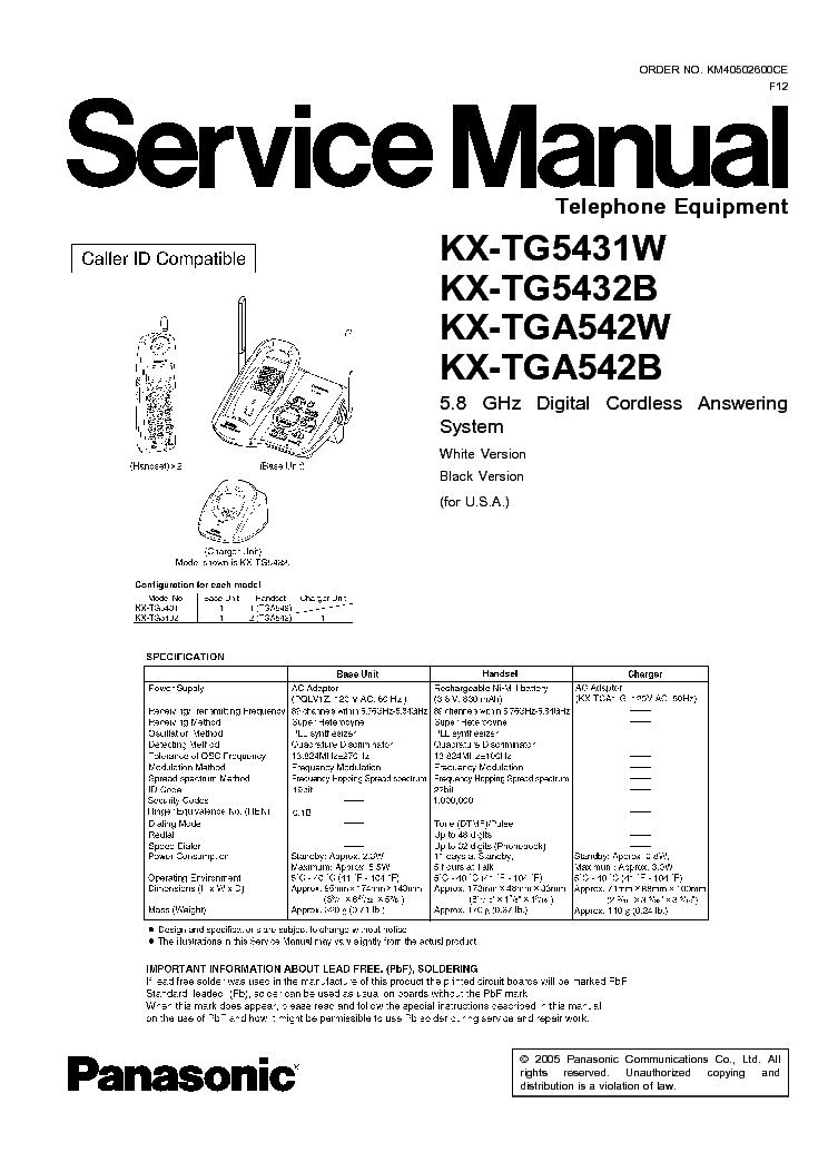 PANASONIC-MIXER WJ-AVE55 Service Manual free download