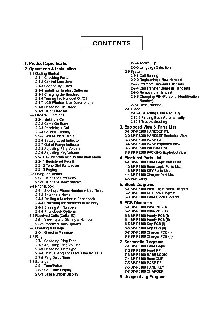 SAMSUNG SP-R6100 SM Service Manual download, schematics