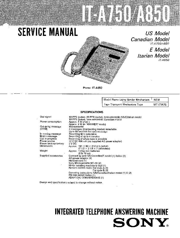 SONY SCPH-30000-SERIES PLAYSTATION2 PS2 Service Manual