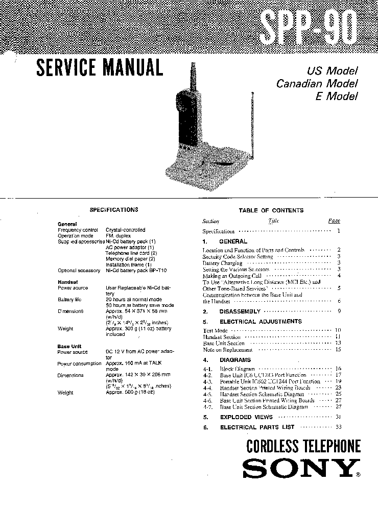 SONY SA-WMS7 Service Manual download, schematics, eeprom