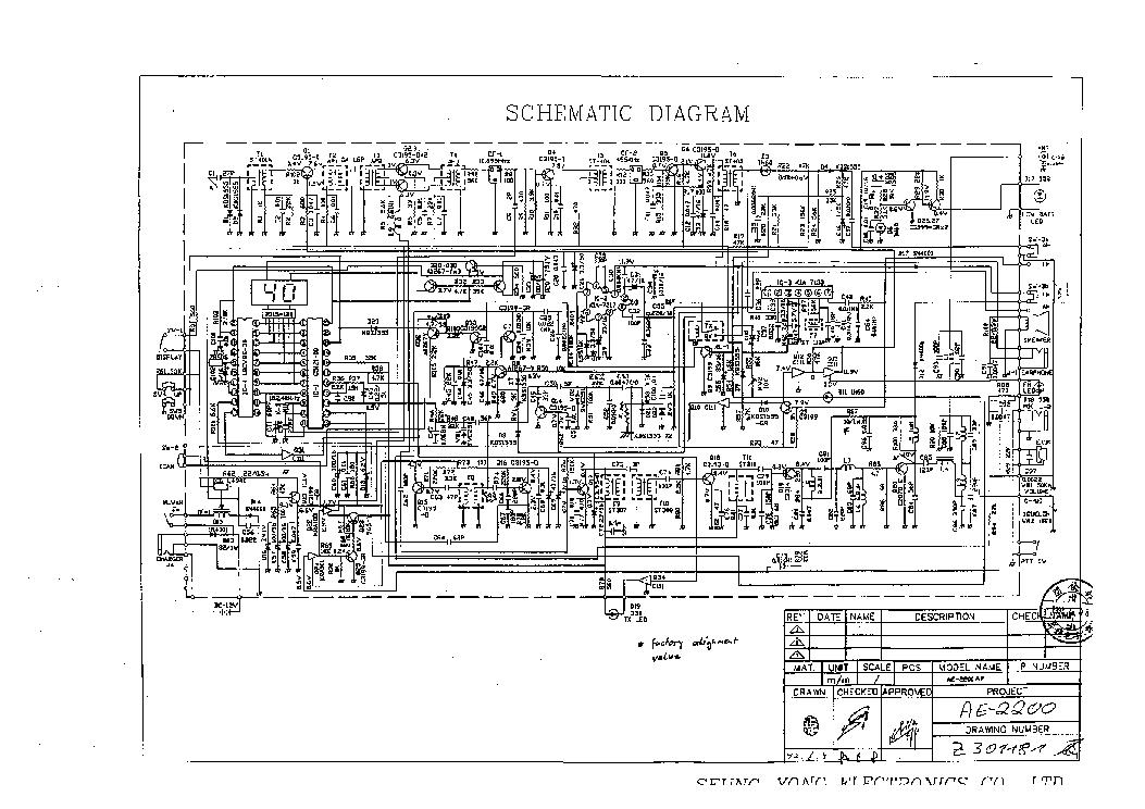 ALBRECHT AE 2200 SCH Service Manual download, schematics
