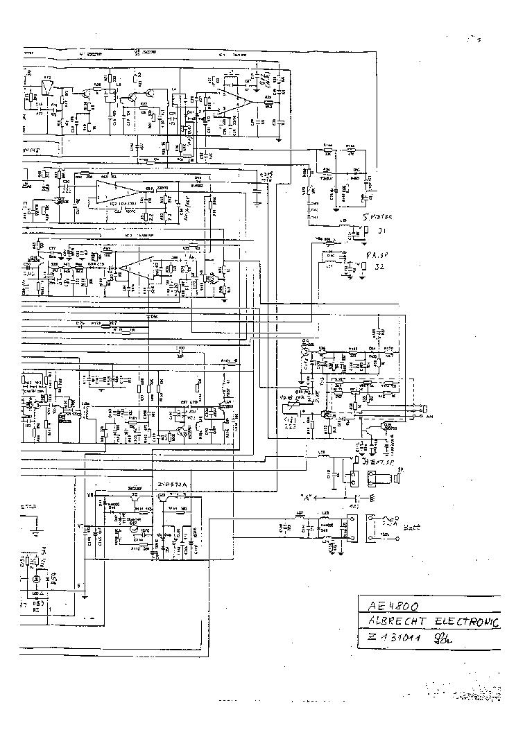 ALBRECHT AE 4800 SCH Service Manual download, schematics