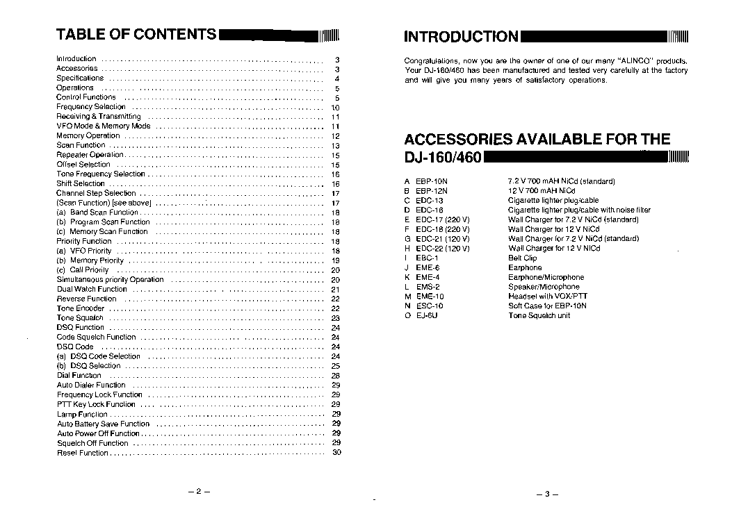 ALINCO DJ-160,460 Service Manual download, schematics