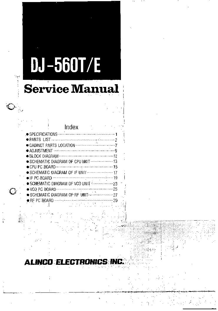 ALINCO DR-599T,E Service Manual free download, schematics