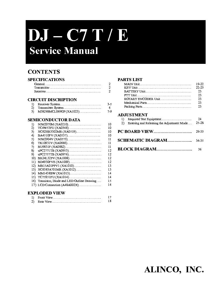 ALINCO DM-130MVZ SCH Service Manual download, schematics
