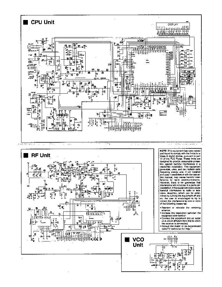 ALINCO DJ-S11 TRANSCEIVER SCH Service Manual download