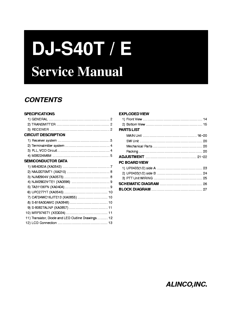 ALINCO DM-330MV Service Manual download, schematics
