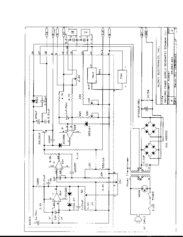ALINCO DM-1350 Service Manual download, schematics, eeprom