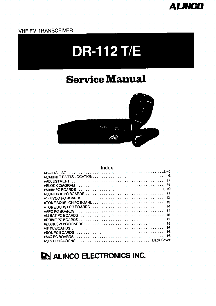 ALINCO DR-605 Service Manual download, schematics, eeprom