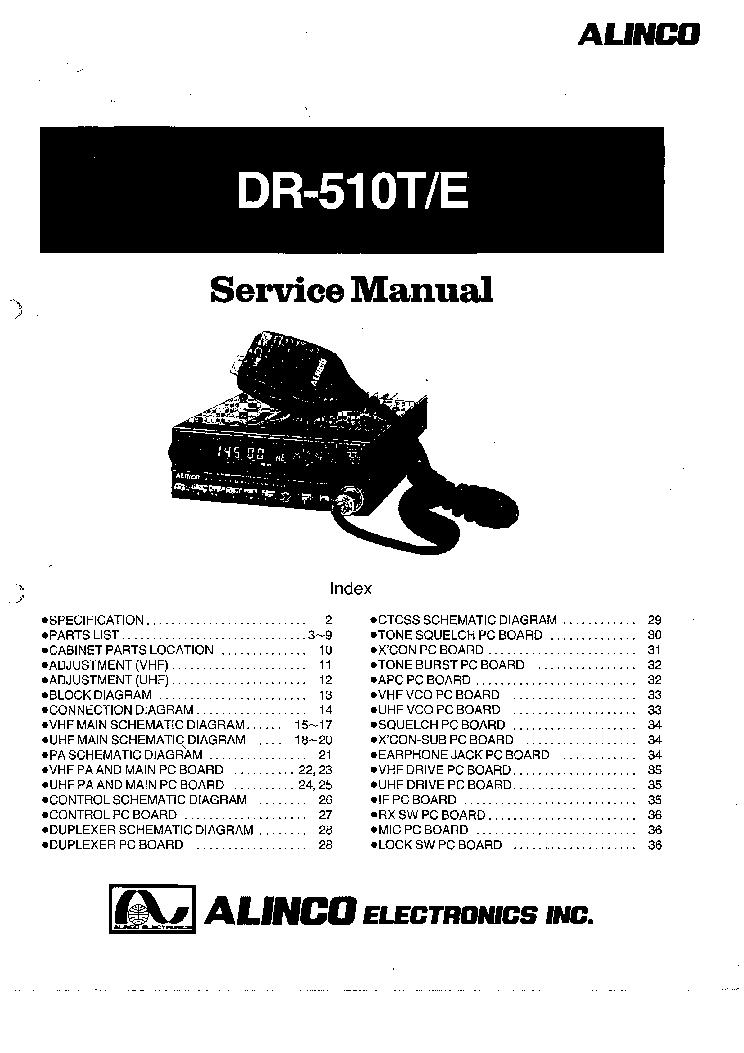 ALINCO DJ-195T,E Service Manual free download, schematics