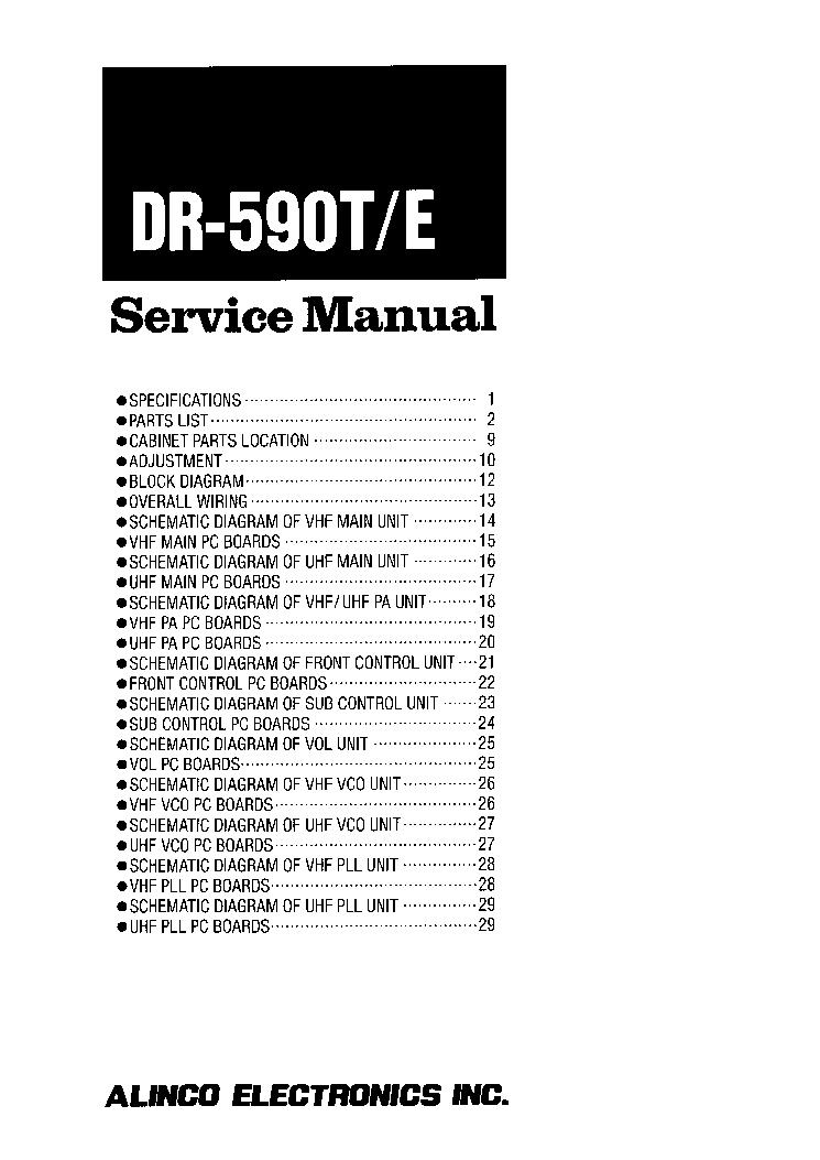 ALINCO DM-340MVT Service Manual download, schematics