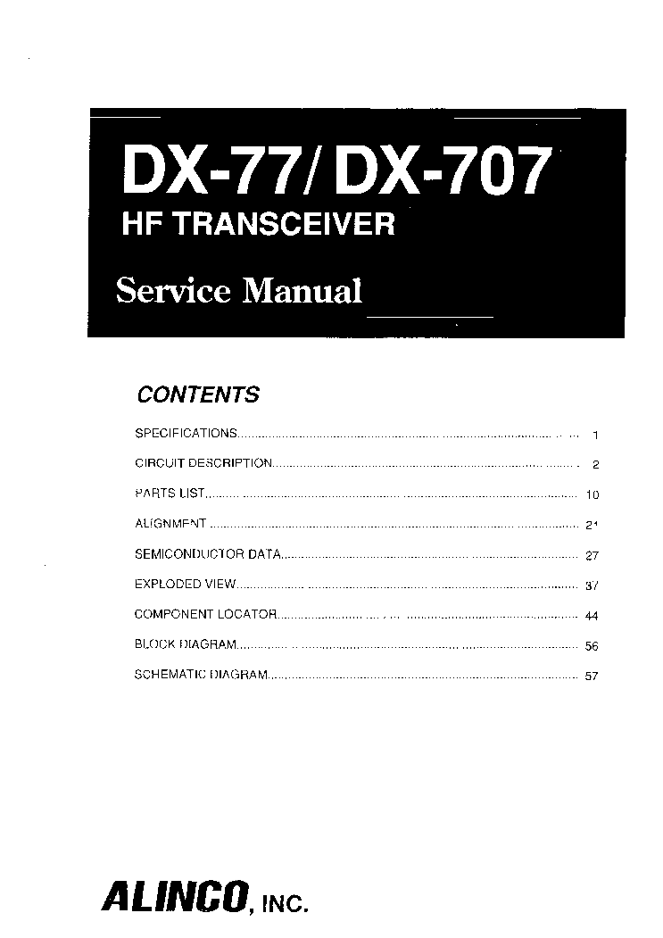 ALINCO DR-605 Service Manual free download, schematics