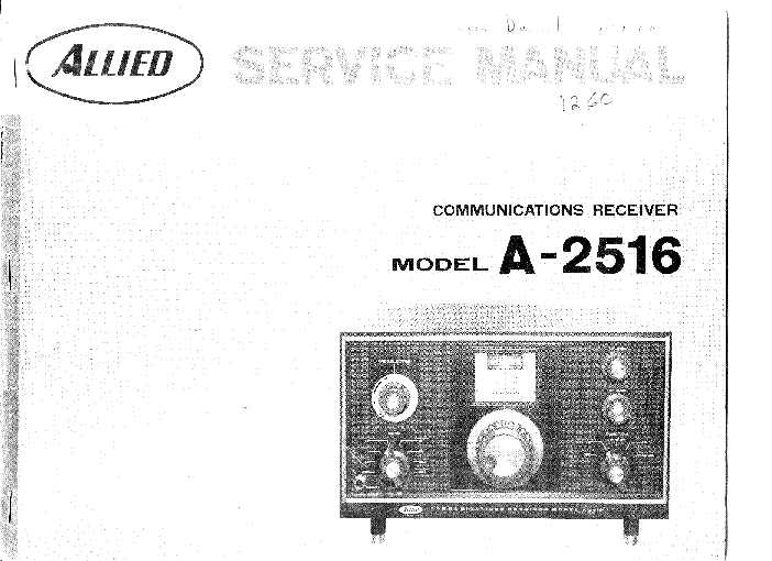 ALLIED RADIO KNIGHT T-175 AMPLIFIER. Service Manual