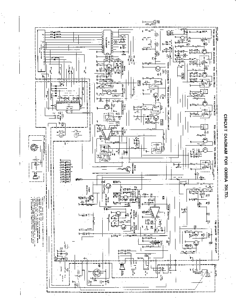 COBRA 20LTD Service Manual download, schematics, eeprom