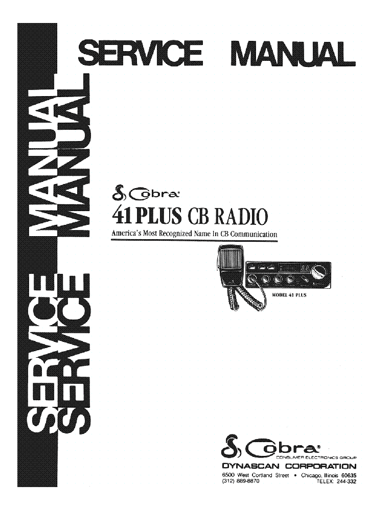COBRA 41 PLUS SM Service Manual download, schematics