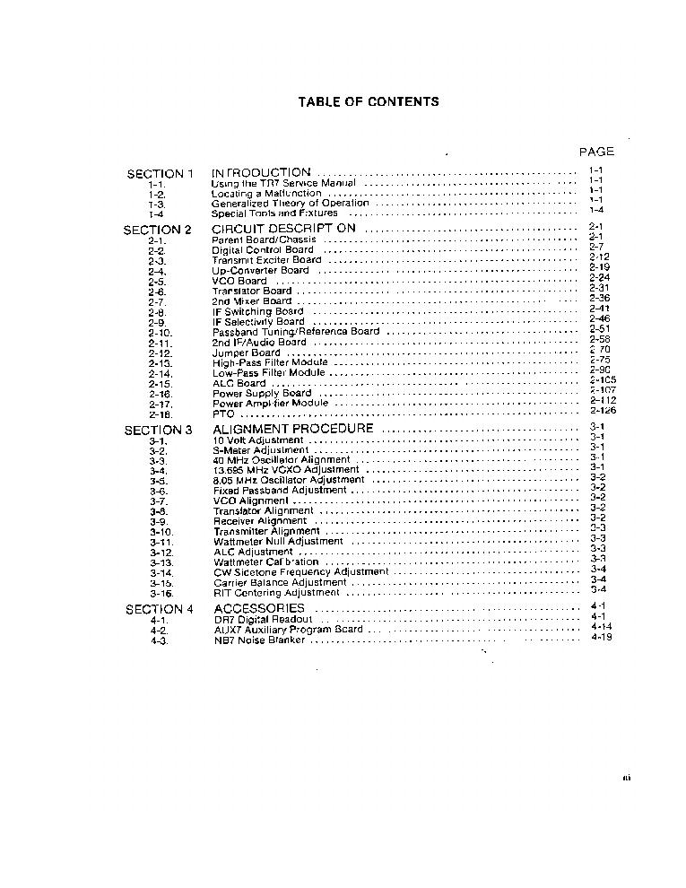 DRAKE TR-7 Service Manual download, schematics, eeprom