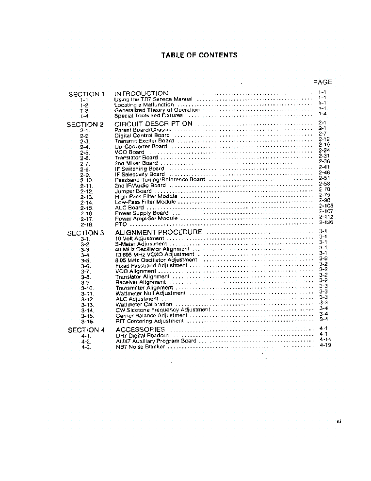 DRAKE TR-7 OPERATING SM Service Manual download