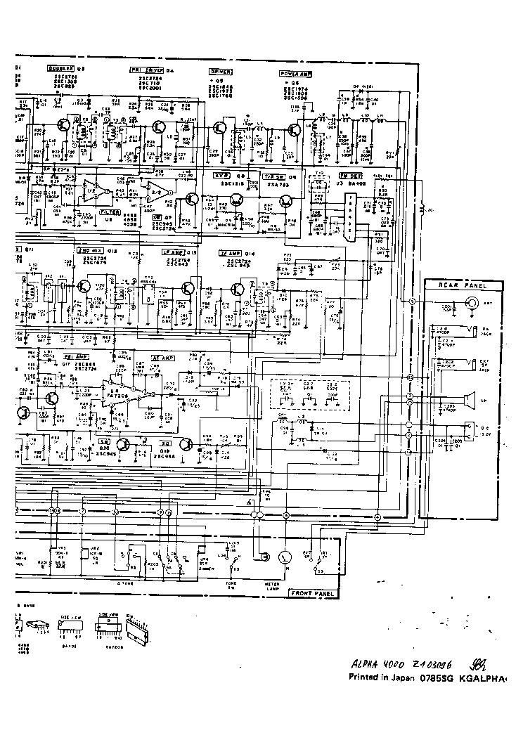 ALPHA 4000 CB Service Manual download, schematics, eeprom