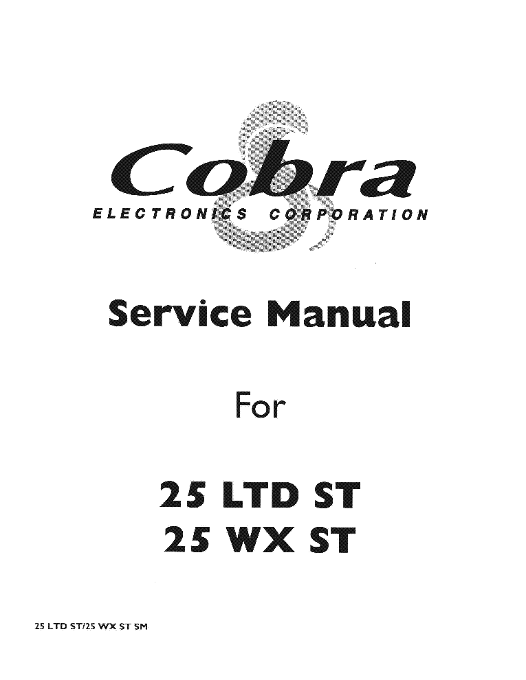 COBRA 29LTD Service Manual download, schematics, eeprom