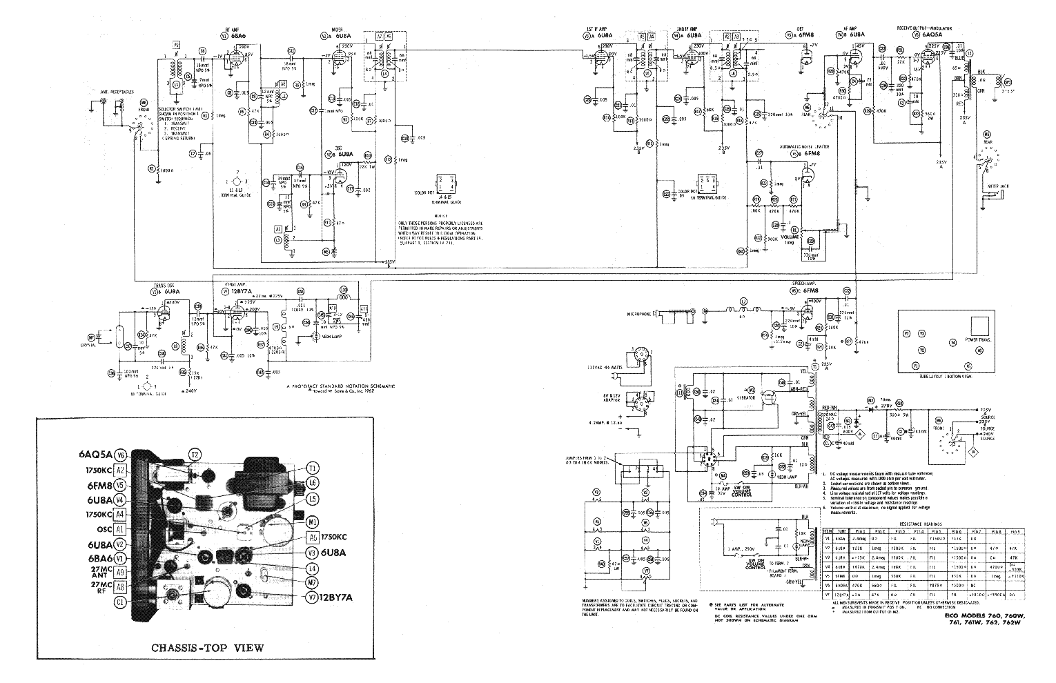 EICO 760 SCH Service Manual download, schematics, eeprom
