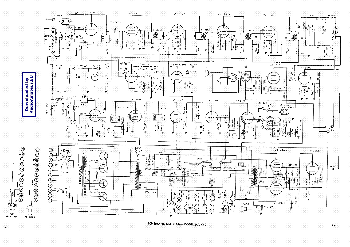 Lafayette Ha410 Service Manual Download Schematics