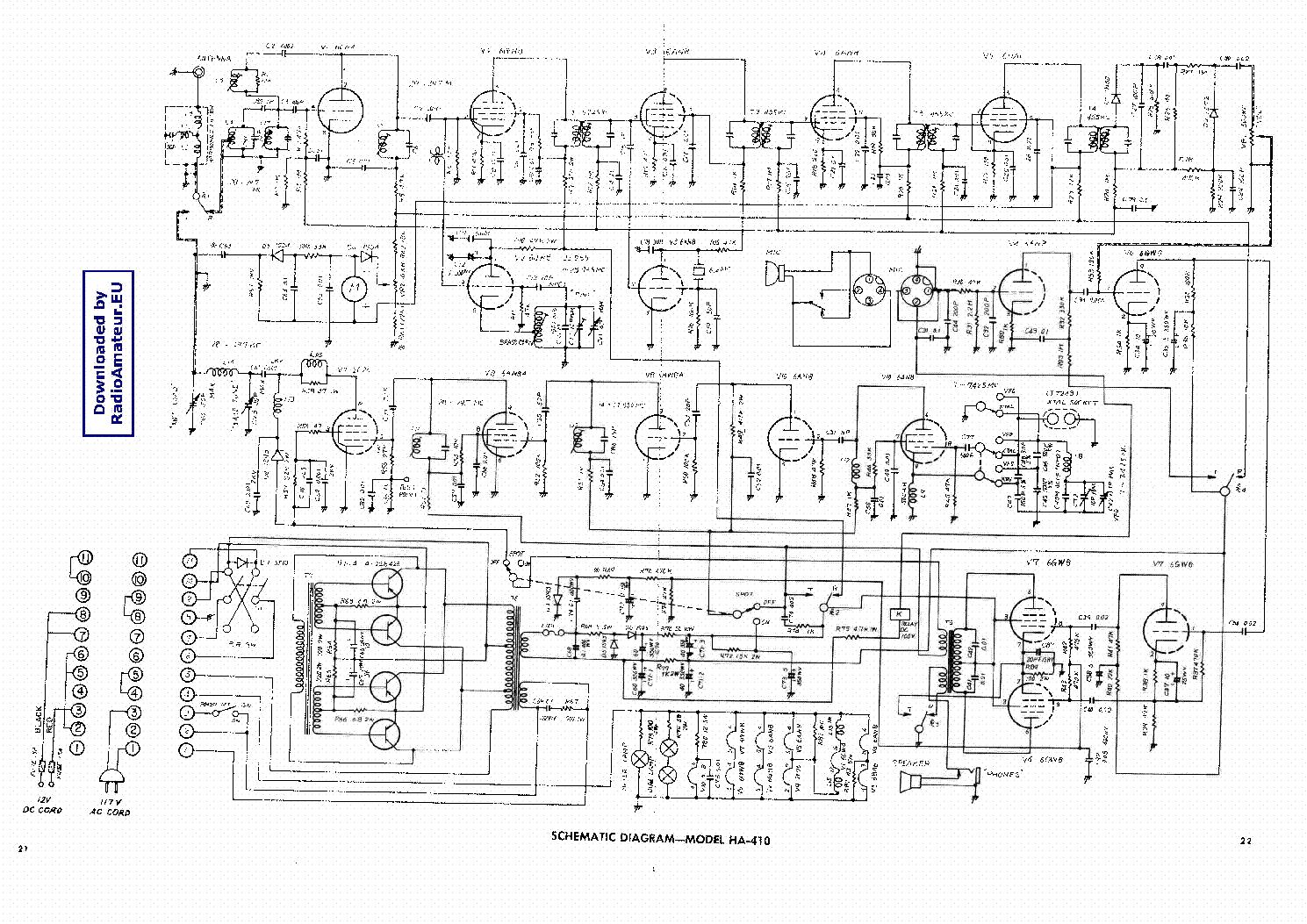 LAFAYETTE HA410 Service Manual download, schematics