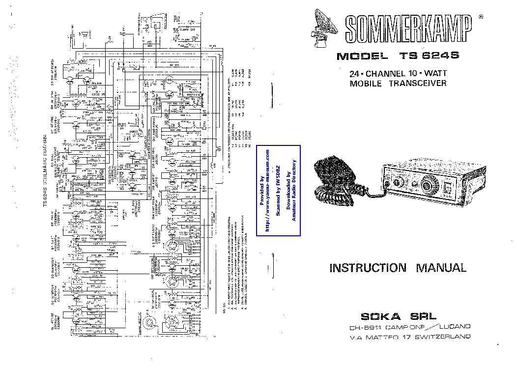 SOMMERKAMP TS624S SM Service Manual download, schematics