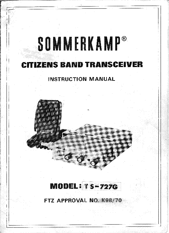 SOMMERKAMP TS727G SM Service Manual download, schematics