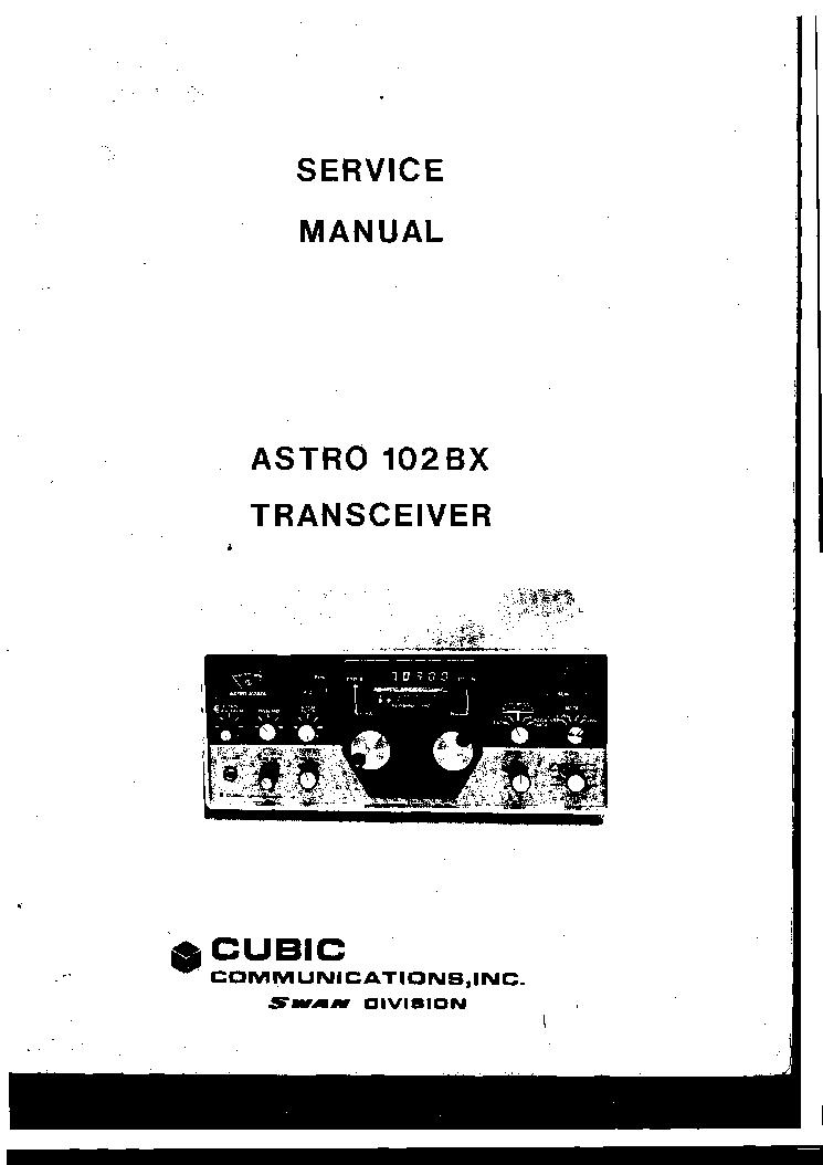 SWAN ASTRO-102BX SM Service Manual download, schematics