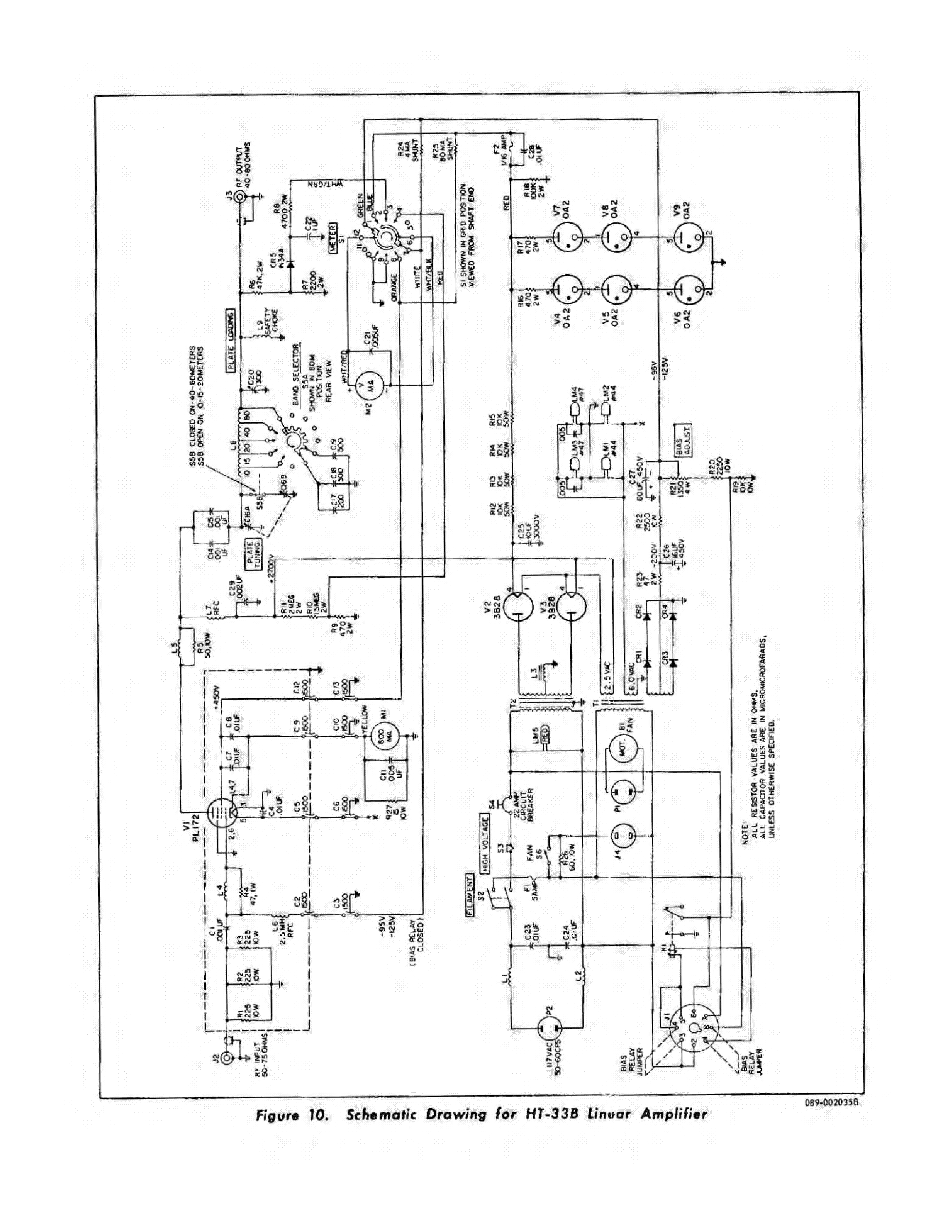 HALLICRAFTERS HT-33B LINEAR AMPLIFIER Service Manual