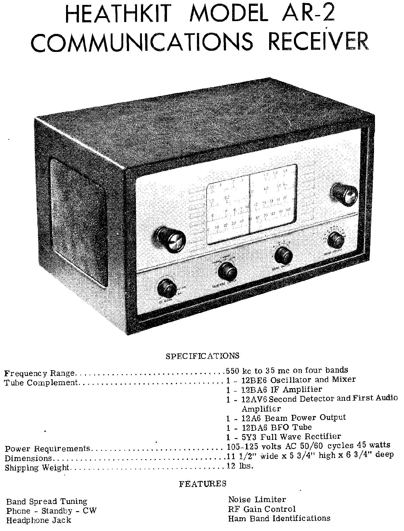 HEATHKIT HW-104 100W TRANSCEIVER ECONOMY VERSION OF SB-104