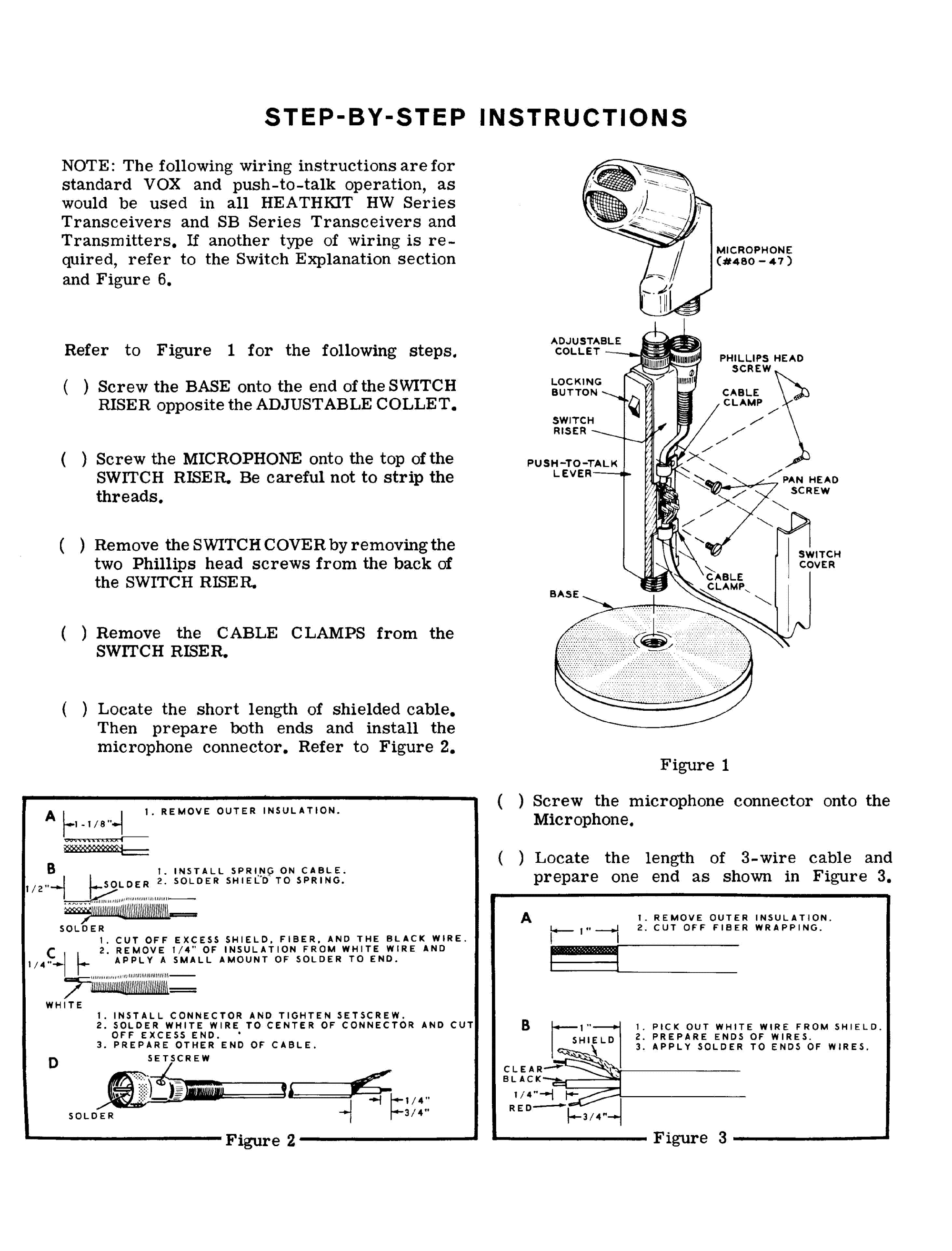 hight resolution of heathkit hdpa 21a microphone sm service manual 2nd page