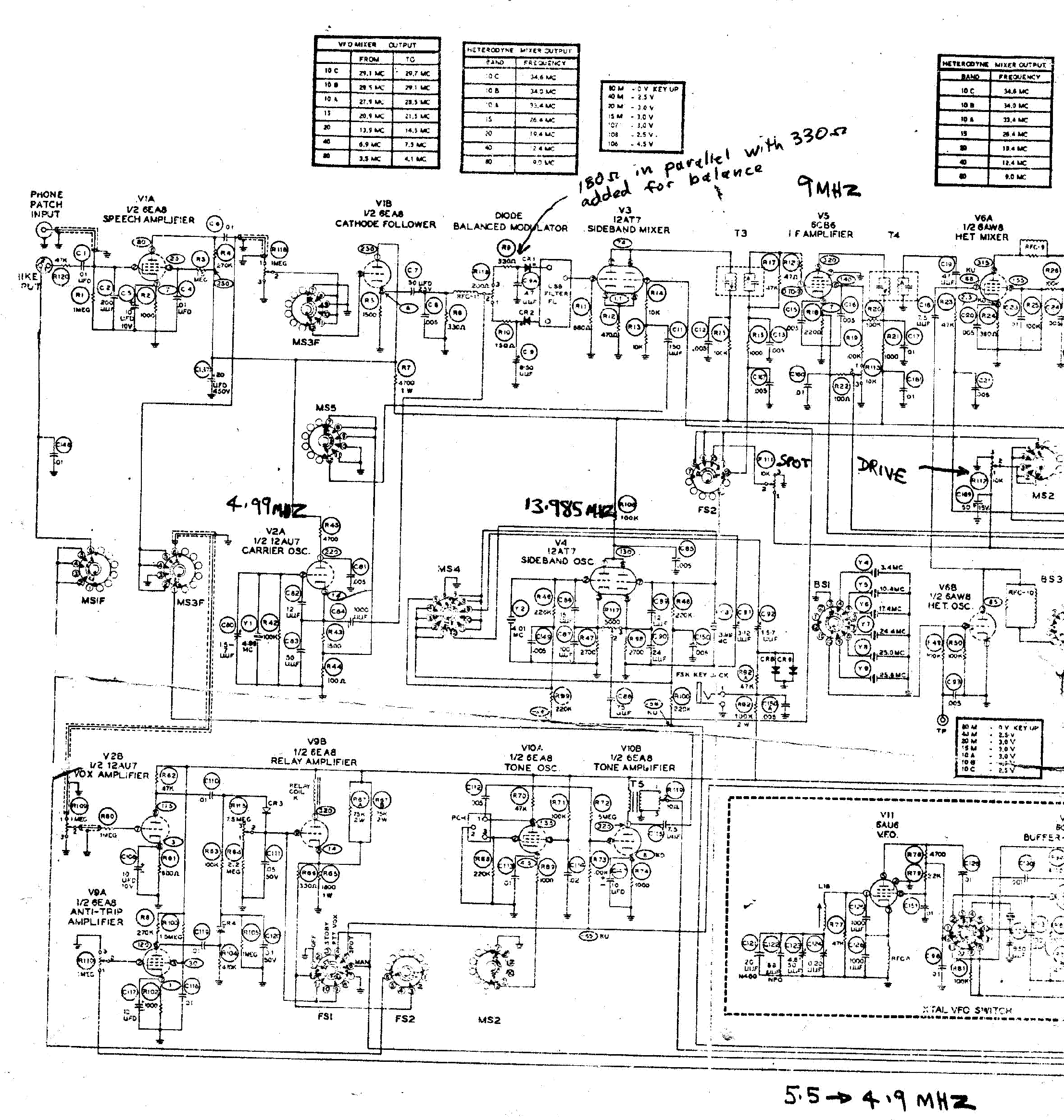 HEATHKIT SB-10 SSB ADAPTER SCH Service Manual download