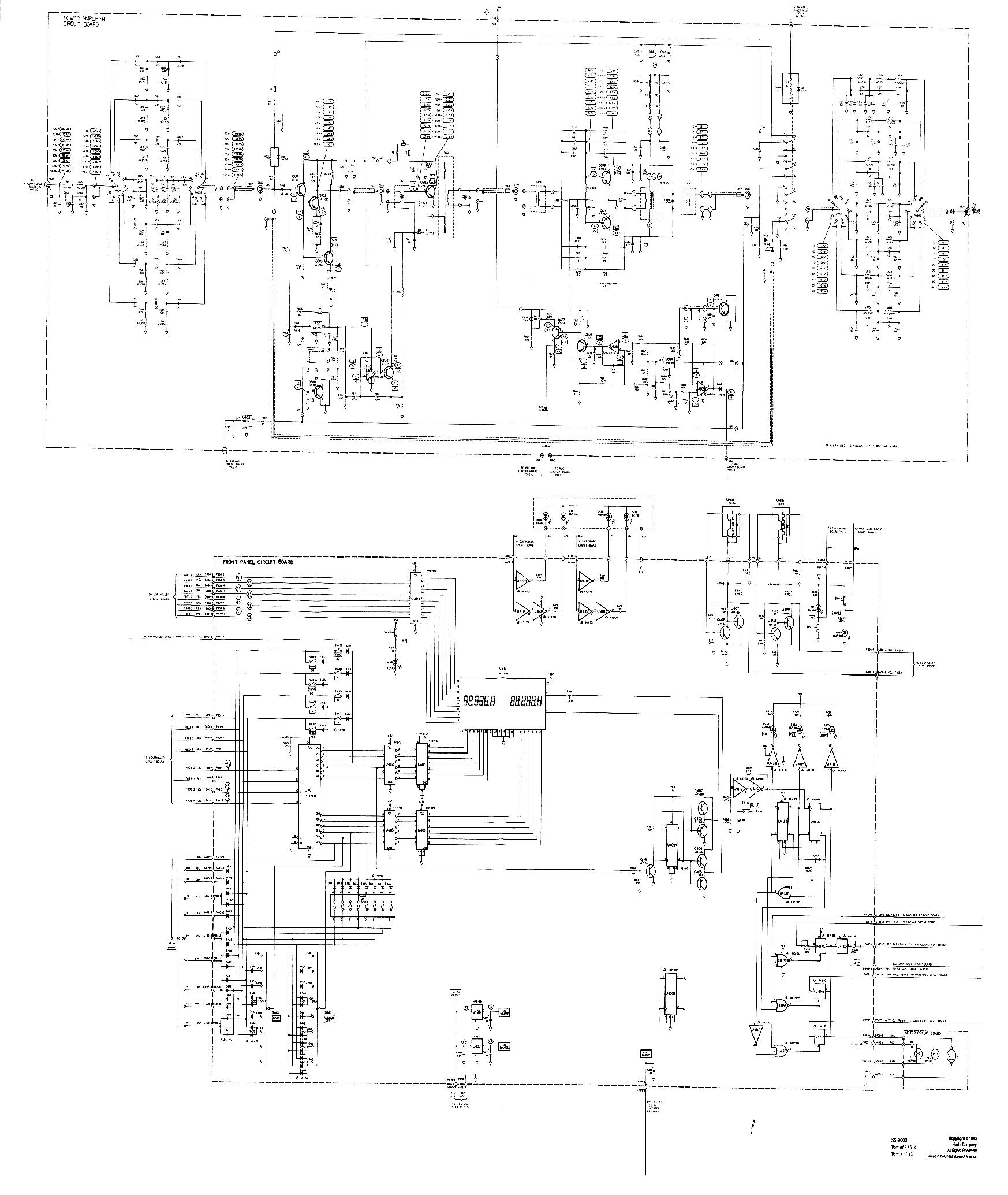 HEATHKIT SS-9000 AMATEUR TRANSCEIVER SCH Service Manual