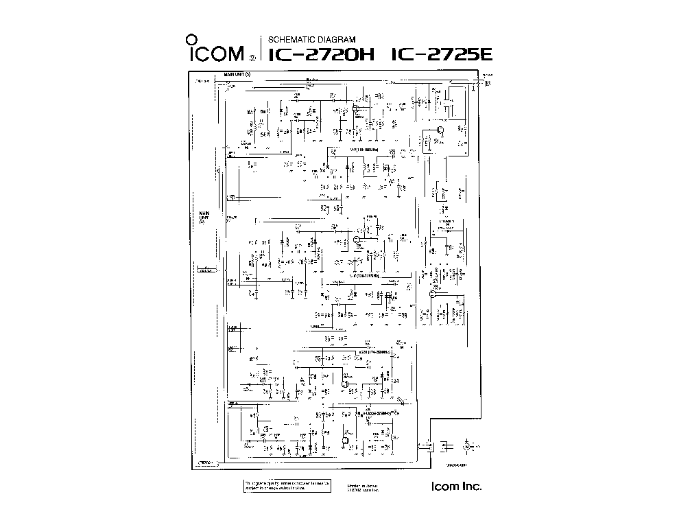 ICOM IC-245E SCH Service Manual download, schematics
