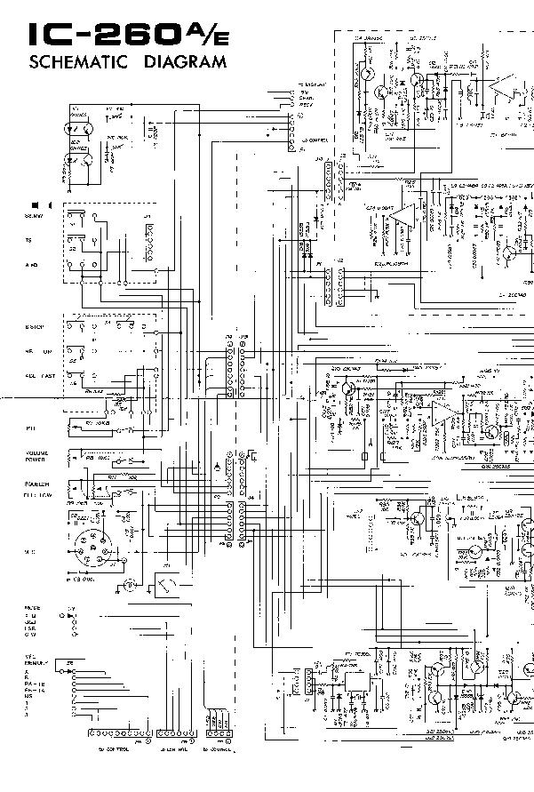 ICOM IC-260 SCHEMATIC Service Manual download, schematics