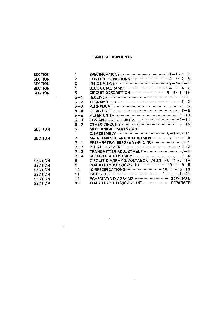 ICOM IC-271A, 271E, 271H SERVICE MANUAL Service Manual
