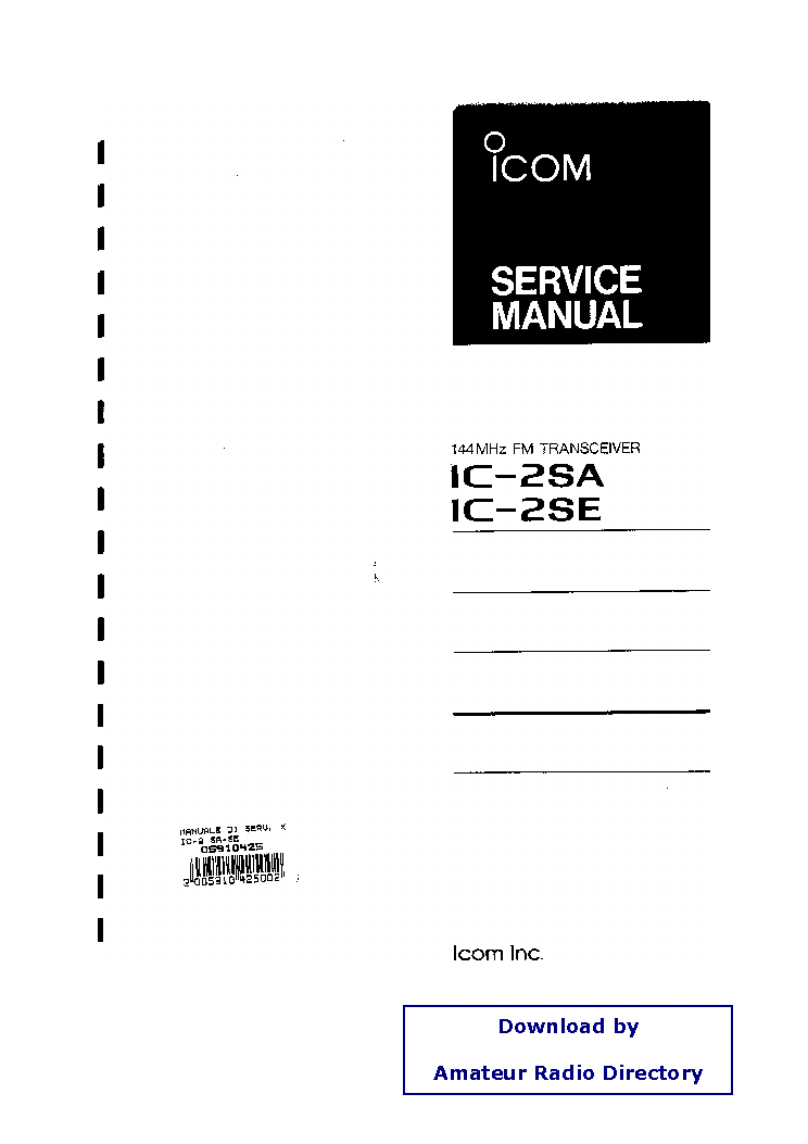 ICOM IC-735 SCHEMATIC Service Manual free download