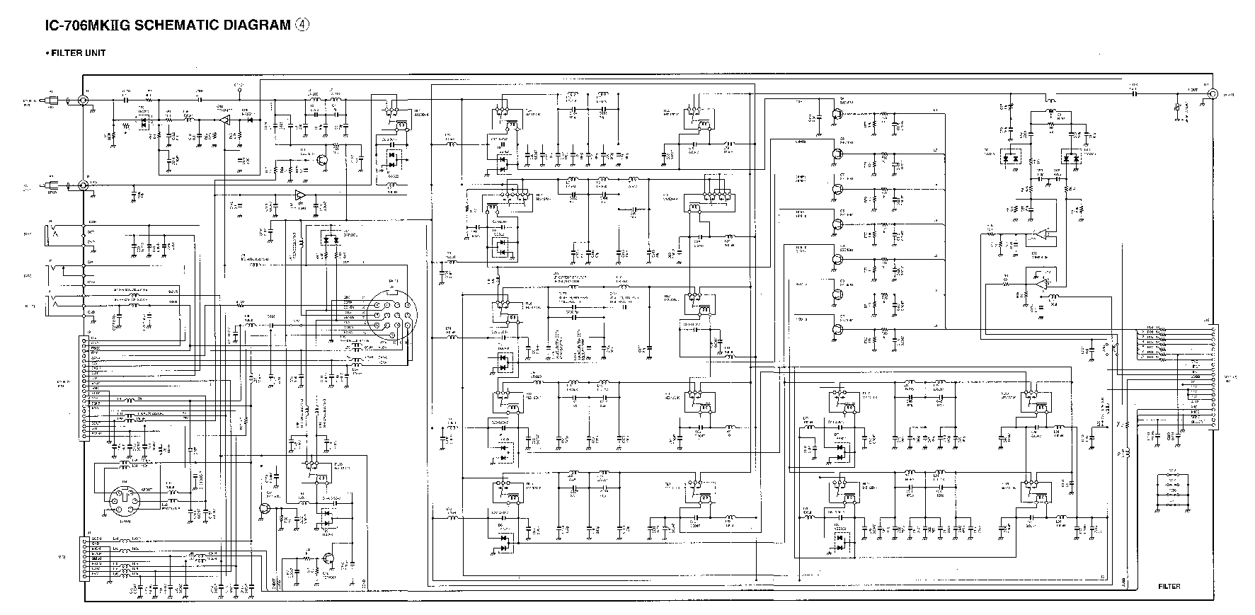 hight resolution of icom ic 706mkii schematic service manual 1st page