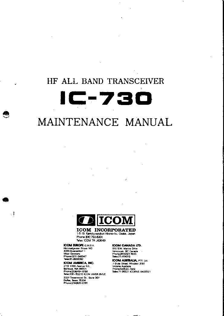 ICOM PS-60 SCH Service Manual free download, schematics