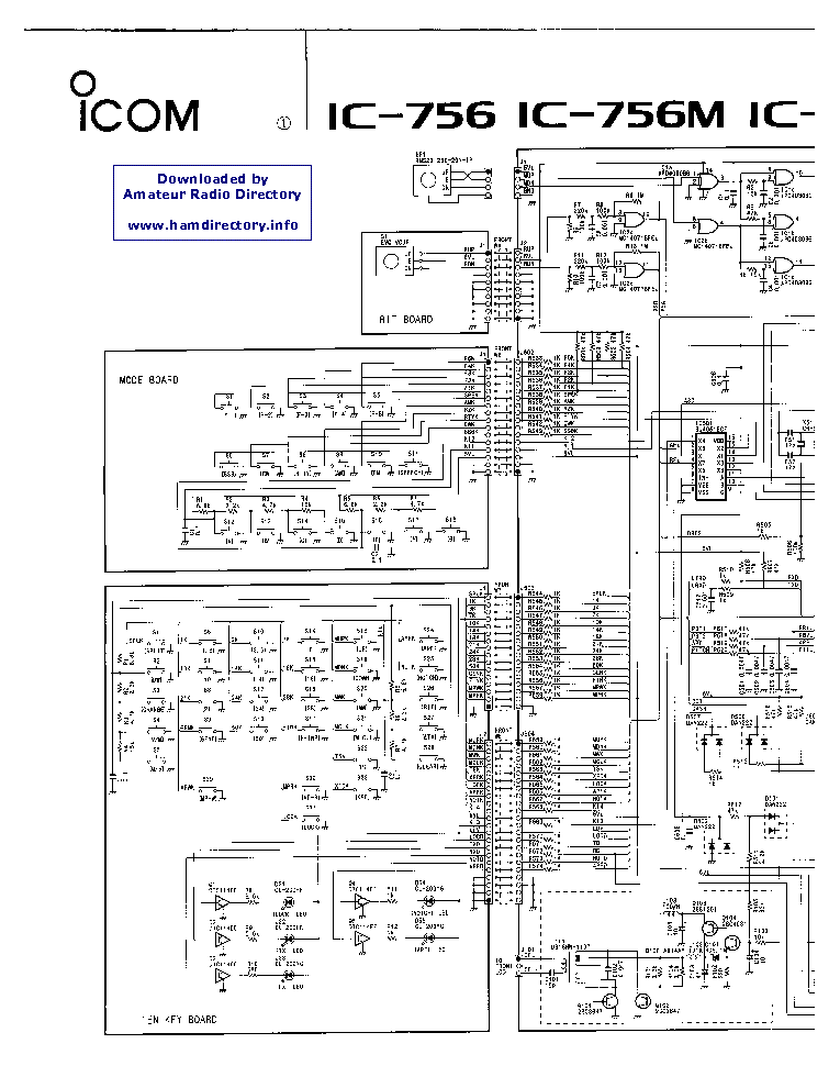 ICOM IC-756 Service Manual download, schematics, eeprom