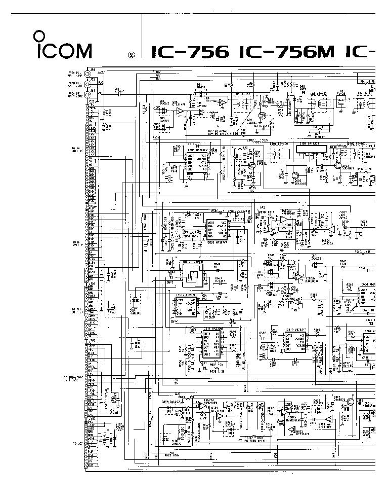 ICOM IC-756 M S TRANSCEIVER SCH Service Manual download
