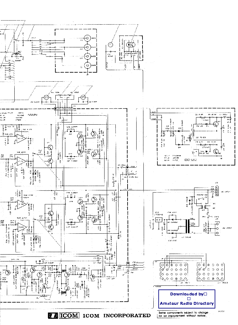 ICOM IC-AT-500 SCHEMATIC Service Manual download
