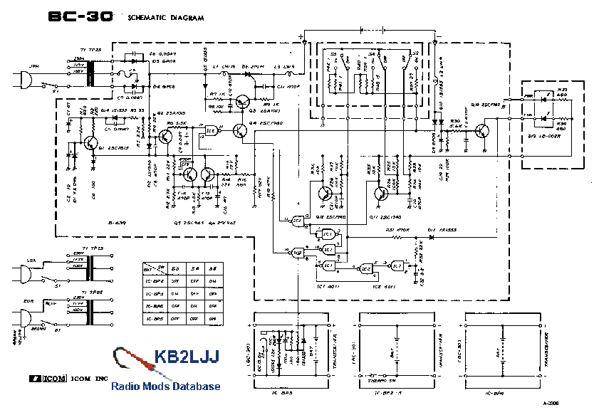 ICOM IC-BC-30 SCHEMATIC Service Manual download