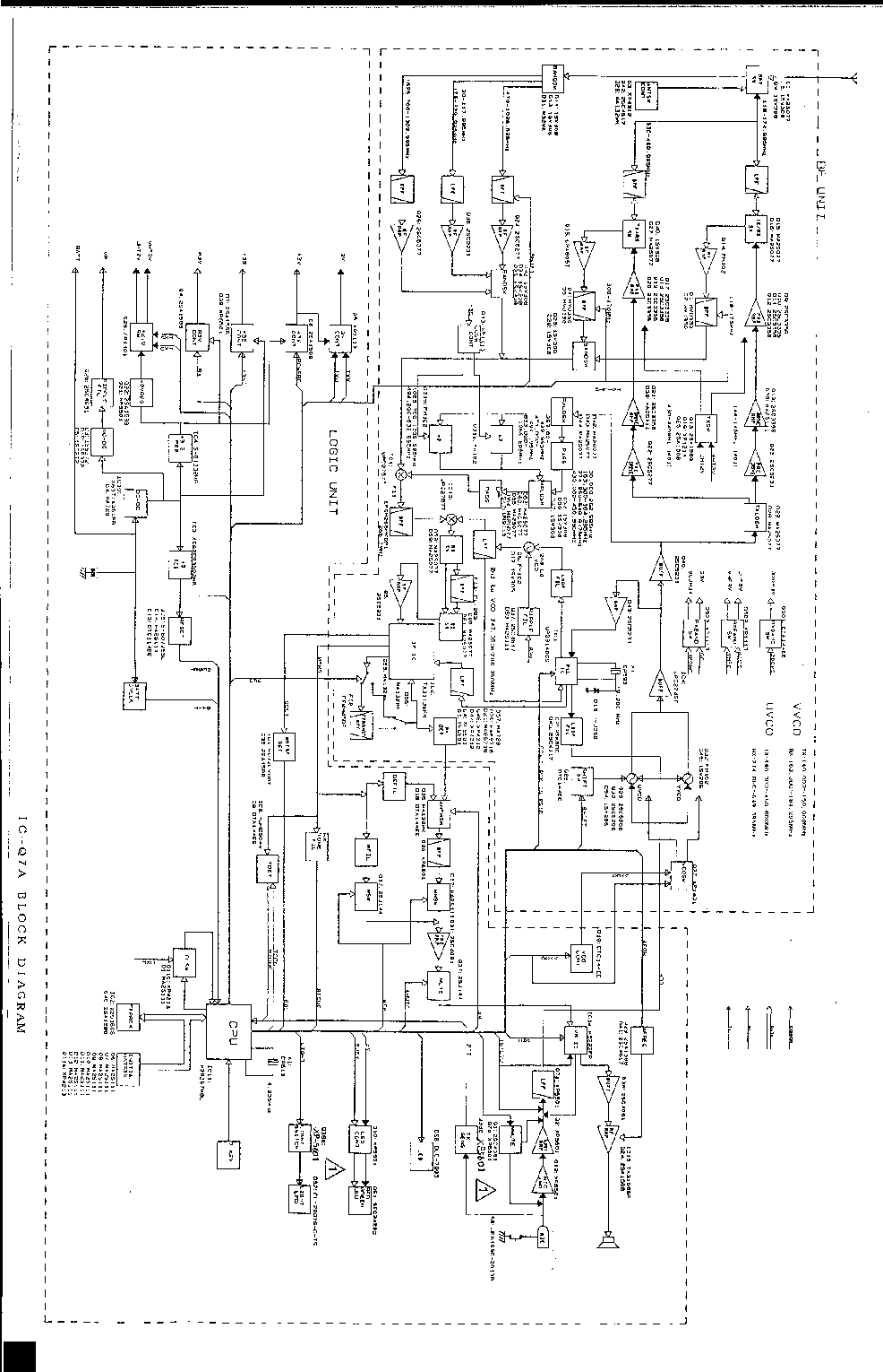 ICOM IC-2500 Service Manual free download, schematics