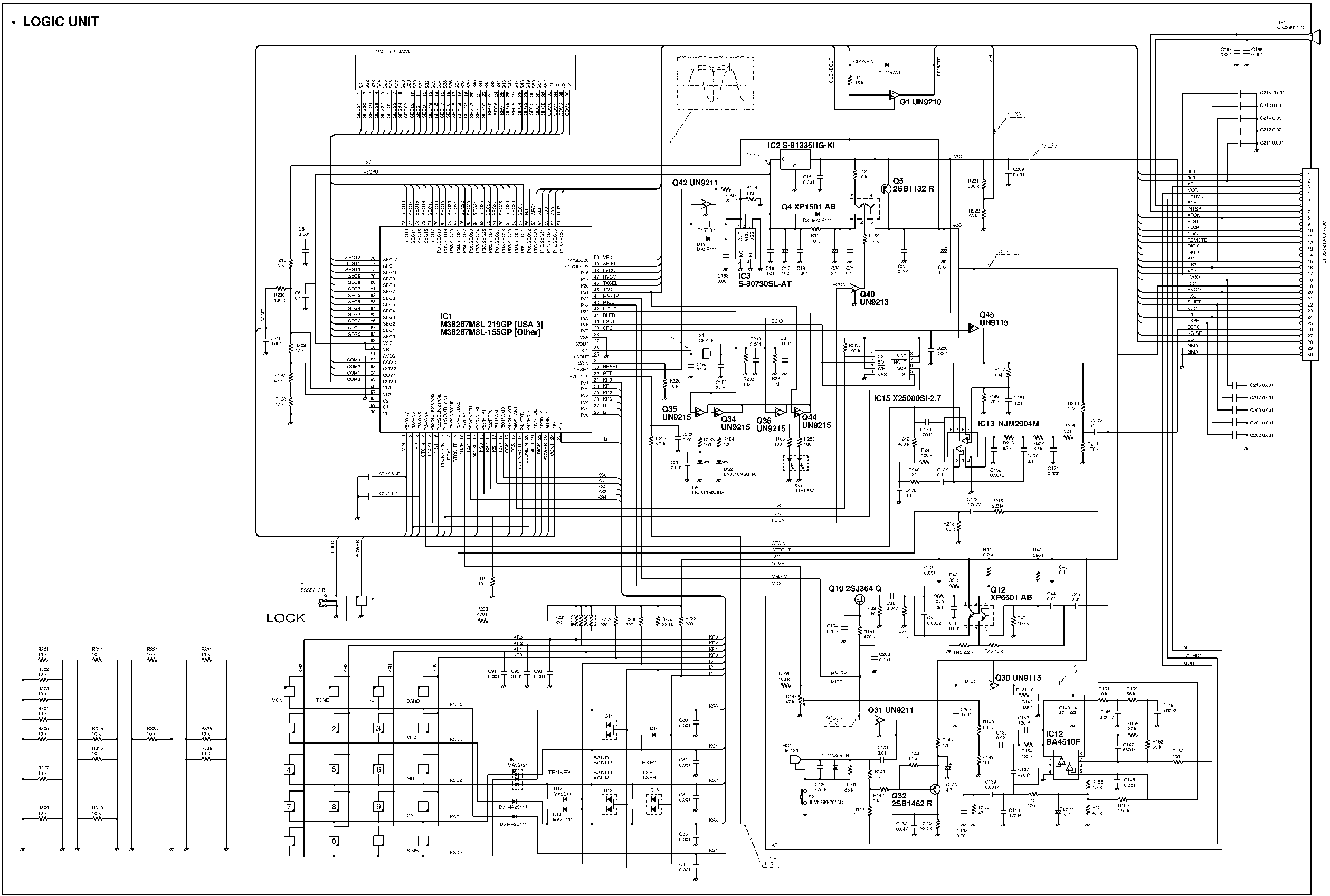 ICOM IC-T7H SCHEMATIC Service Manual download, schematics