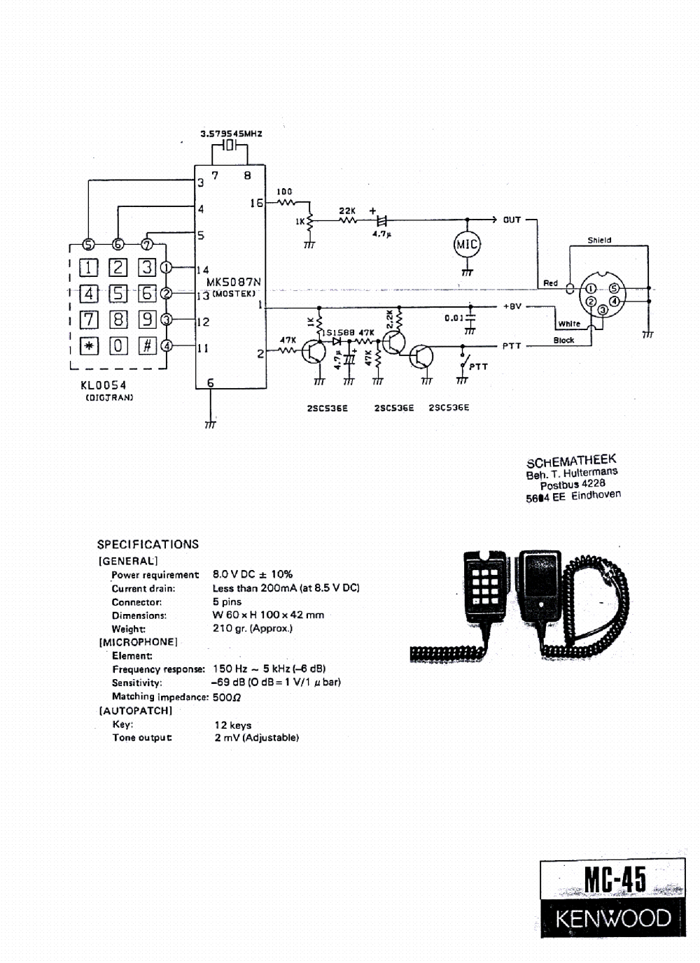 medium resolution of kenwood mc 43s wiring diagram images gallery