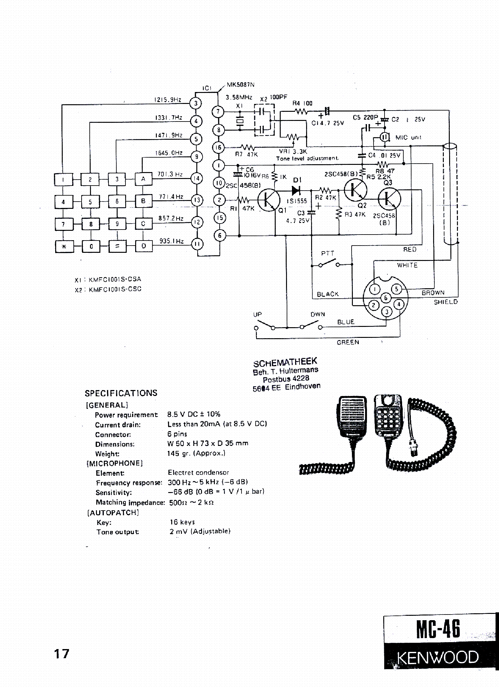 hight resolution of kenwood mc 46 sch service manual download schematics eeprom kenwood radio diagram kenwood mc