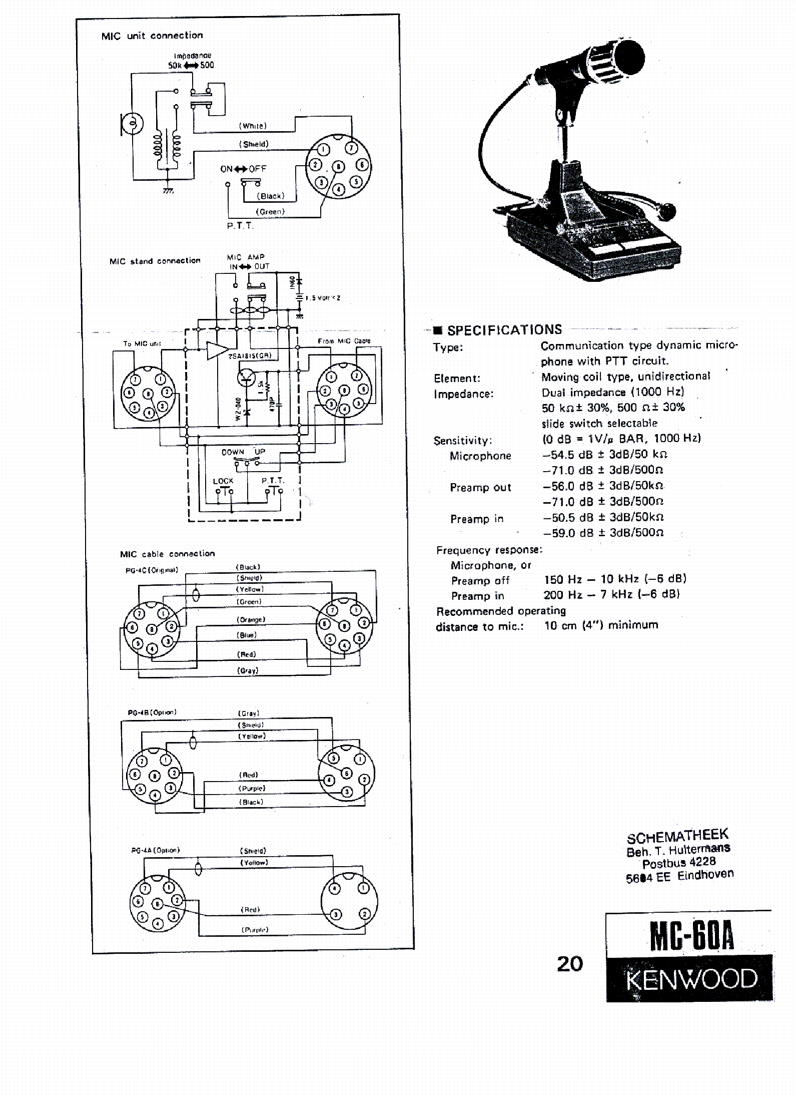 KENWOOD MC-60A SCH Service Manual download, schematics