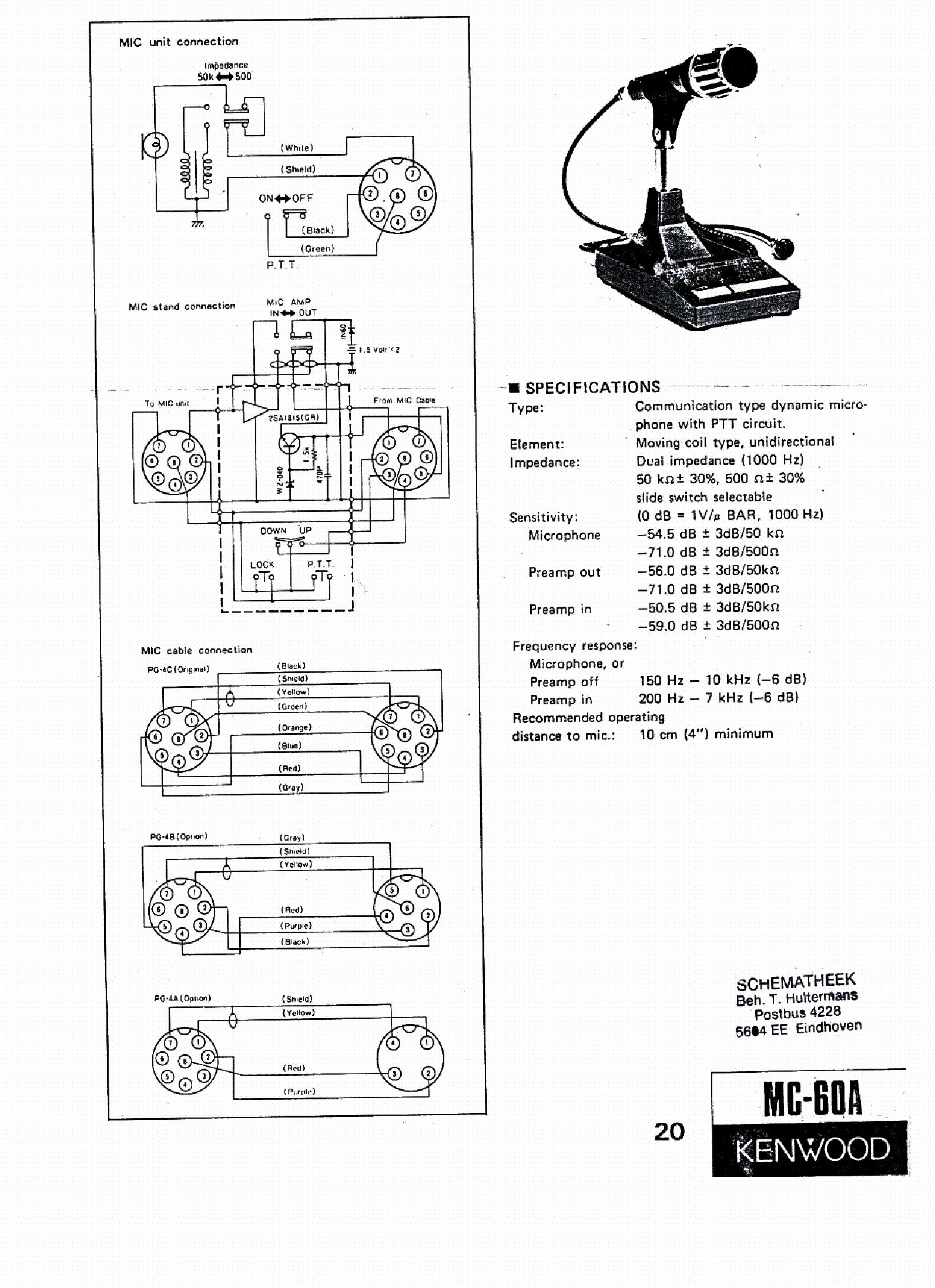 microphone wiring diagram as well kenwood microphone wiring diagram